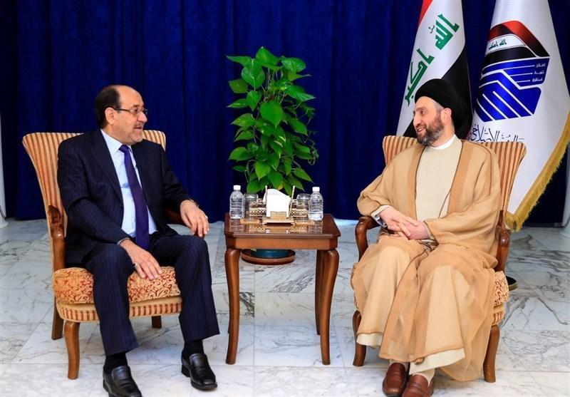 دیدار حکیم و نوری المالکی؛ تاکید بر گفت وگو برای حل مسائل منطقه