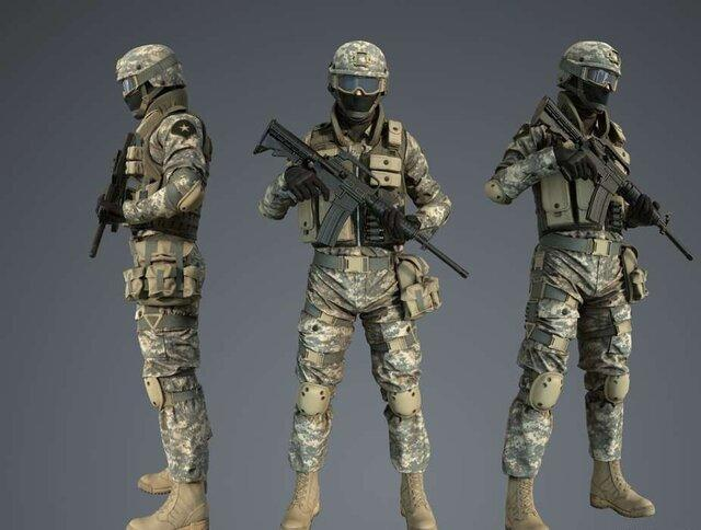 طراحی لباس هوشمند سربازان با استفاده از 12 سنسور، پوتین های ردیاب رادیو اکتیو و مین