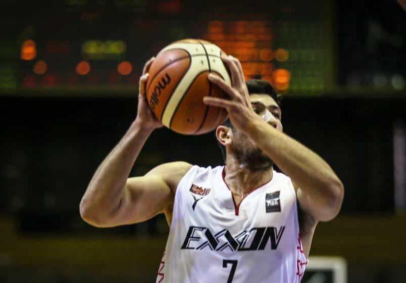 لیگ برتر بسکتبال، پیروزی اکسون مقابل مس کرمان